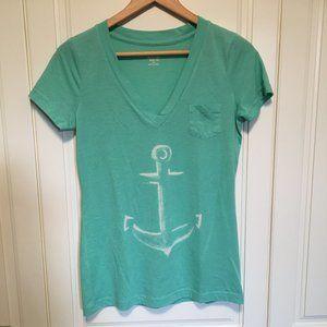 Women's soft low-v Anchor tshirt M